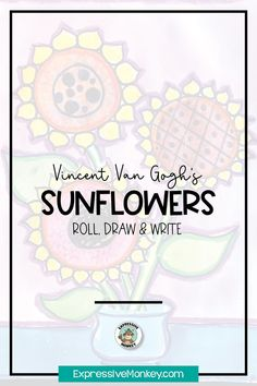 Learn to draw a vase of sunflowers while learning about the artist Vincent van Gogh. A fun way to bring your art history lesson to life! History Lessons For Kids, Art Lessons For Kids, Art Activities For Kids, Art Lessons Elementary, Art For Kids, Art Sub Plans, Art Lesson Plans, Famous Artists Today, Art Classroom Management