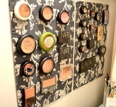 Wall Makeup Storage missrockwell