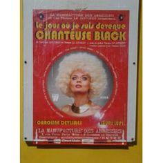 Le Jour Où Je Suis Devenue Chanteuse Black, Affiches, Paris, Théâtre, La Manufacture Des Abbesses, 2014