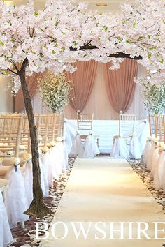 Hire Price: £150.00 each Compliment your entrance or top table with our stunning blossom trees standing at 10ft high. FINISHING TOUCHES Uplight the tree with our uplighters = £15.00 All prices are excluding vat