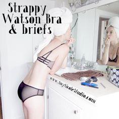 Strappy Watson Bra & Briefs with Pattern.