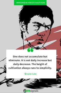Bruce Lee on simplicity 🙏🏻 Positive Quotes For Life, Life Quotes, Startup Quotes, Bruce Lee Quotes, Marketing Tactics, The Little Prince, Monday Motivation, Vikings Rollo, Martial Arts