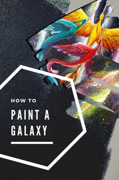 How to paint a galaxy in acrylics, easy - Learn which are the galaxy paint colors to use on your DIY painting - Galaxy painting Galaxy Painting Acrylic, Diy Painting, Painting & Drawing, Acrylic Tutorials, Acrylics, Paint Colors, Canvas, Drawings, Tips