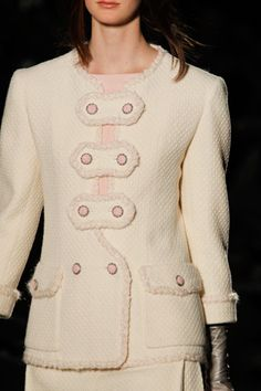 Sweet girly buttons  Fall '12 Couture: Chanel