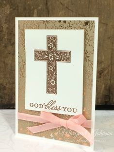 Margaret's Stamp Haven - Stampin' Up! Independent Demonstrator Memory Monday – Crosses of Hope Confirmation Cards, Baptism Cards, Communion, Gold Cross And Chain, Christian Cards, Money Cards, Get Well Cards, Sympathy Cards, Stamping Up