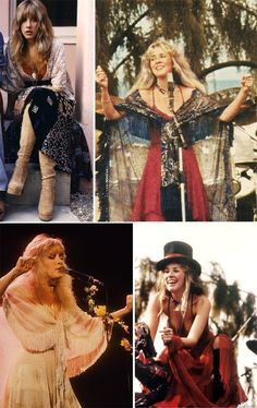 Welcome to Throwback Thursdays, a little glimpse back in time to take a look at some fashion inspiration from the past. This week it's Stevie Nicks. 70s Outfits, Hippie Outfits, Cute Outfits, 70s Inspired Fashion, Retro Fashion, Vintage Fashion, 60s And 70s Fashion, Stevie Nicks Fleetwood Mac, Stevie Nicks 70s
