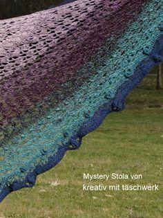 16 Besten Crochet Along Mystery Stola Cal 2017 Bilder Auf Pinterest