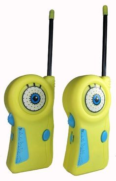 Walkie Talkie 17062 Nickelodeon SpongeBob Square Pants by Walkie Talkie. $12.95. On/Off switch to save battery (9V) life. Flexible saftey antenna and Morse Code. Two walkie talkies with belt clip. From the Manufacturer                Keep in touch with your undersea friends with Sakar's 2-piece SpongeBob Square Pants Walkie Talkie set.                                    Product Description                Sakar Spongebob Walkie Talkies - Sakar 17062.. Save 14%!