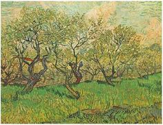 Orchard in Blossom Vincent van Gogh   Painting, Oil on Canvas  Arles: April, 1888 Van Gogh Museum  Amsterdam, The Netherlands, Europe  F: ;511, ;JH: ;1386