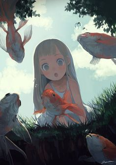 Cute children world art