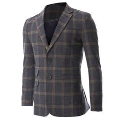 FLATSEVEN Mens Casual Two Tone Large Plaid Wool Sport Coat Blazer Jacket (BJ481) #mensfashion #men #clothing #jacket #FLATSEVEN #outfits #BLACKFRIDAY