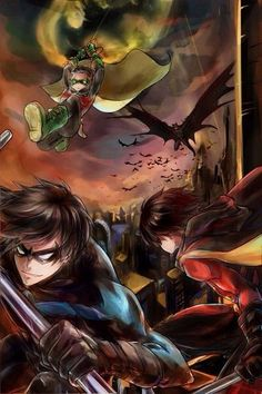Image result for nightwing red