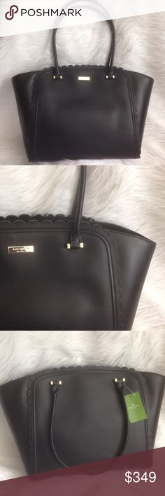 "Kate Spade ♠️ Maxime ♠️ Scalloped Purse 😍 🔹New with tags!  🔹absolutely gorgeous♠️❤️ 🔹approximately 14-18"" (W) 11"" 9"" strap drop 🔹 ✨I do not trade  ✨I am happy to answer any questions! kate spade Bags Shoulder Bags"