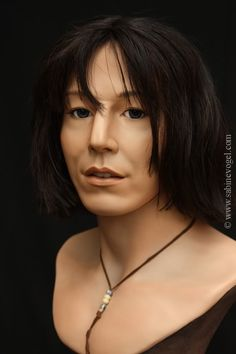 John Doe - porcelain jointed bust - by Sabine Vogel