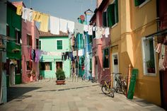 Hanging Laundry on the island of Burano 8x10 by aroundin80frames, $25.00