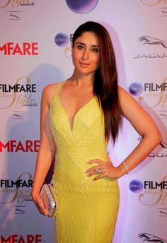 Kareena Kapoor Latest Spicy Hot Photos In Yellow Dress