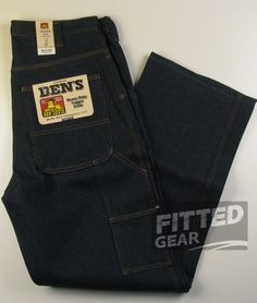 c317d8f1768 BEN DAVIS Men s Heavy Duty Working LOGGER JEANS INDIGO Blue Denim Pants  Bottoms