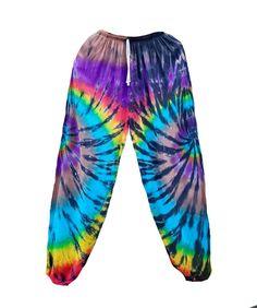 Colorful Tie Dye Pants Summer Beach Festival Party Casual | Etsy Festival Skirts, Festival Party, Tie Dye Pants, Shibori Tie Dye, Boho Pants, Hippie Gypsy, Summer Beach, Party Wear, Casual Wear