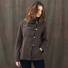 It's a little too warm to be thinking about fall, but I LOVE this jacket!  super soft high quality 100% organic cotton fleece  made in Peru  fair trade