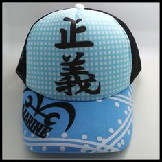 One Piece Blue Marine Snapback Baseball Anime Hat - OtakuForest.com