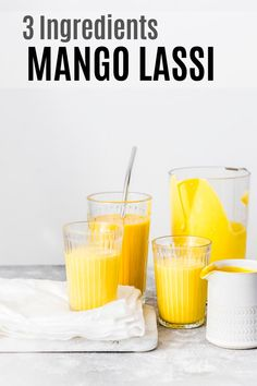 Made with just 3 ingredients - mango, yogurt and cardamom, MANGO LASSI is a refreshing summer drink,loaded with goodness. Perfect as Breakfast Smoothie too! Almond Yogurt, Vegan Yogurt, Yogurt Cups, Oatmeal Smoothies, Fruit Smoothies, Vegan Smoothies, Smoothie Drinks, Smoothie Recipes, Nutribullet Recipes