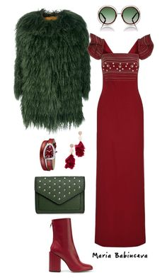 """Без названия #802"" by mariaalex-stylist ❤ liked on Polyvore featuring Tory Burch, Alessandra Chamonix, Petar Petrov, Bulgari, Antonio Berardi and Chloé"