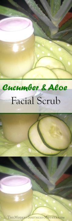 DIY Cucumber and Aloe Facial Scrub