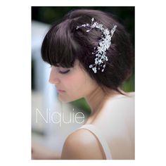 "NIQUIE on Instagram: ""This headpiece will make you blush  Photography: @nazlimirayphotography #niquiecollection #niquiethegirlnextdoor #bridalheadpiece"""