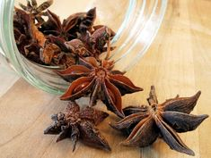 "Star anise is fundamental to the style of Chinese cuisine known as ""red cooking"", where meat (often chicken, duck or pork) or vegetables are turned a deep red-brown color by being braised in a soy-sauce flavored broth Spice Blends, Spice Mixes, Bouillon Thai, Vietnam, Pork Buns, Indonesian Cuisine, Star Anise, Broccoli Beef, Natural Life"
