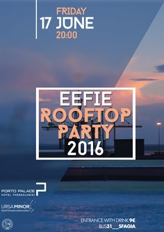 Summer rooftop cocktail party