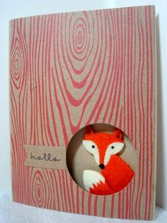 Foxy Felt Critter by AmylovesNormaJean - Cards and Paper Crafts at Splitcoaststampers