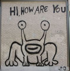 The frog mural by Daniel Johnston, Corner of Guadalupe and 23rd Street, Austin, TX