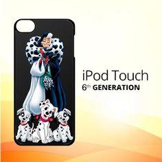cruella de vil with dalmatian L0435 iPod Touch 6 Case