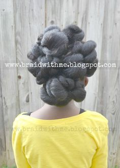 Braid with Me: Pretty Natural Updo + A Curl's Fantasy Bow