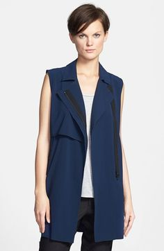 Vince 'Laser Cut' Trench Vest available at #Nordstrom