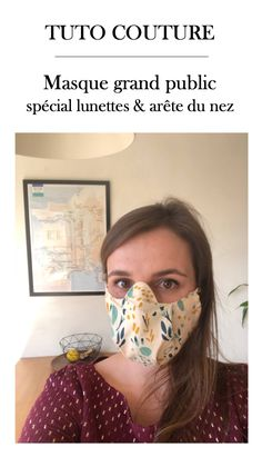 Boss mask craft an anti-fog for glasses and does not overwrite the bridge of the nose Coin Couture, Couture Sewing, Sewing Hacks, Sewing Crafts, Sewing Projects, Creation Couture, Clothing Hacks, Diy Crochet, Diy Projects To Try