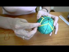 Learn to mark a simple 8 division on a Japanese temari ball - YouTube