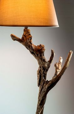 Luxurious Wooden Lamp, Driftwood Lamp, Natural Wooden Sculpture Lamp, Handmade Lamp. $150.00, via Etsy.