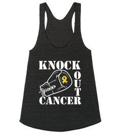 Knock Out Childhood Cancer Tank top  #ChildhoodCancerAwareness