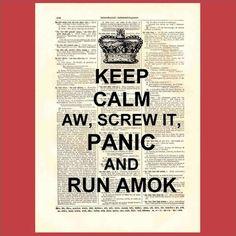 keep calm not