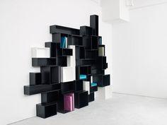 Customizable Cubit Shelving System Transforms Interiors | Freshome maar dan in een andere vrolijke kleur