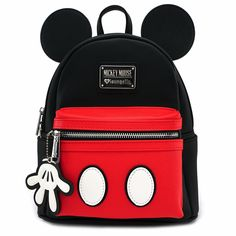 Loungefly x Mickey Suit Mini Saffiano Faux Leather Backpack - Backpacks - Bags