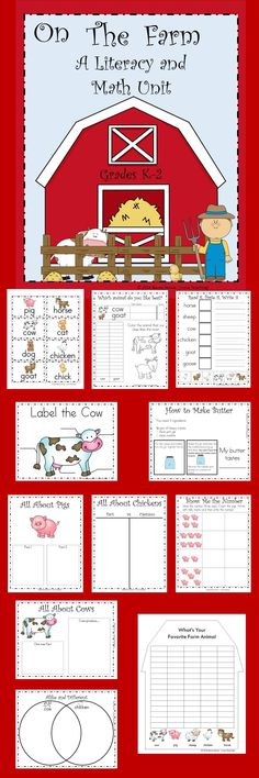 Students will have fun learning about farm animals with this farm unit. It is filled with activities such as labeling, graphing, compare and contrast, fact and opinion, write the room, show the number and lots more!