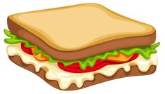 Sandwich Png Clipart Vector Sandwich Clipart Png Image Vector And Clipart With For Your Design. You can get million PNG images to search your favorites object for the project template. Food Png, Food Clipart, Restaurant Menu Design, Delicious Burgers, Food Illustrations, Cute Food, Food Inspiration, Food And Drink, Logo