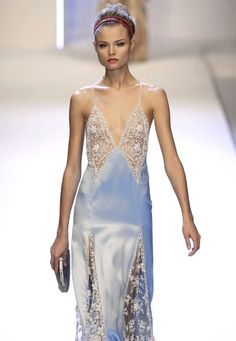 Magdalena @ Valentino SS 07..I REALLY HOPE THIS IS LINGERIE!!!