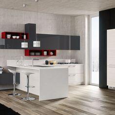 cucina angolare con penisola moderna dream - diotti a&f ... - Cucine Moderne Angolari
