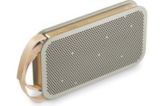BeoPlay A2 is a portable Bluetooth® speaker that boasts 24 hours of battery life. Its solid aluminum core and durable polymer outer shell reduce resonance and provide stability, and its slim profile m