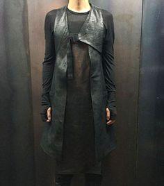 Boris Bidjan Saberi AW15 Long Leather Apron & Long Leather Vest #borisbidjansaberi