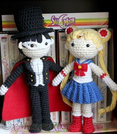 Tuxedo Mask Sailor Moon Amigurumi Crochet Dolls by xMangoRose