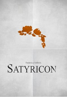 Satyricon (1969) ~ Minimal Movie Poster by Zoki Cardula ~ Fellini Series #amusementphile